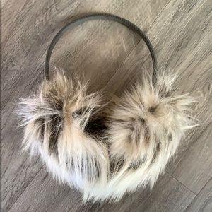 NWOT. Faux fur fuzzy earmuffs